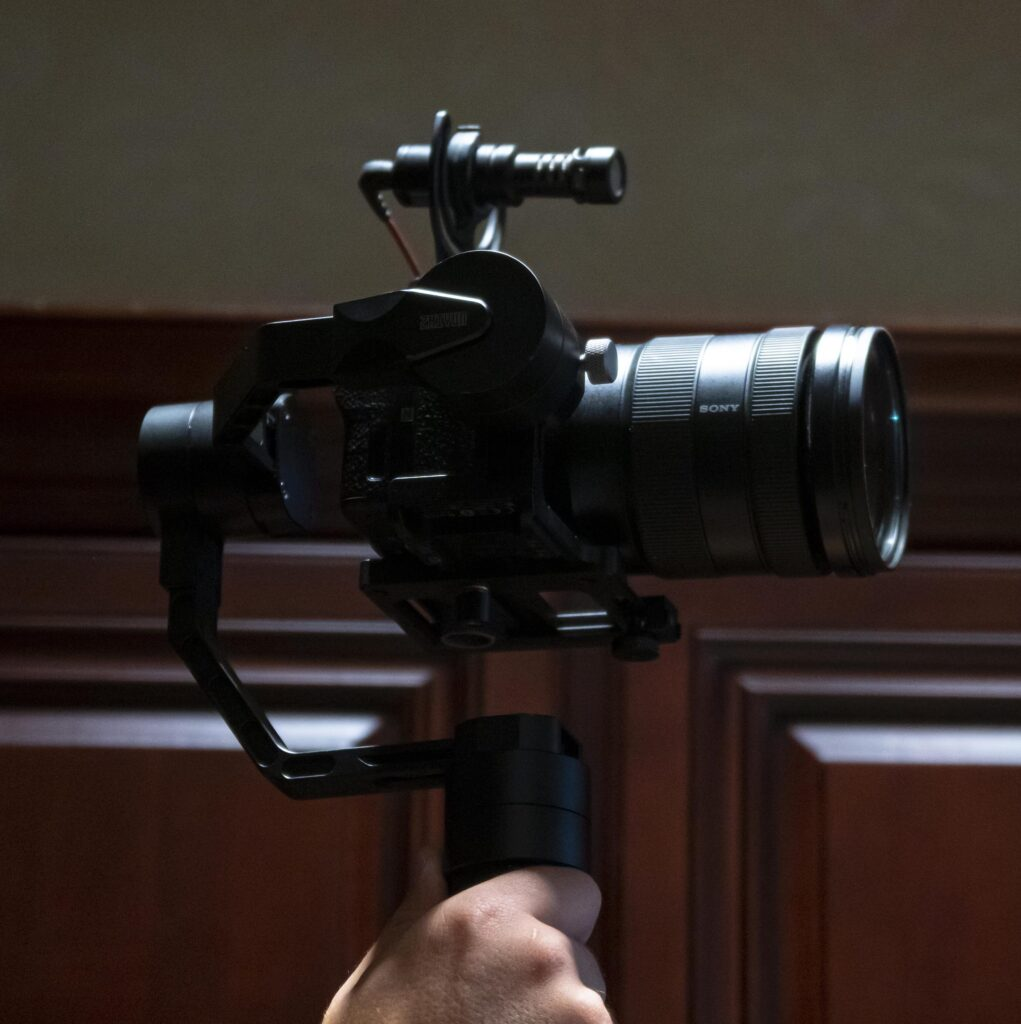 photo of a photographer's camera